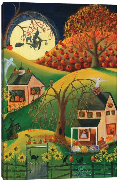 Halloween Witches House Canvas Art Print