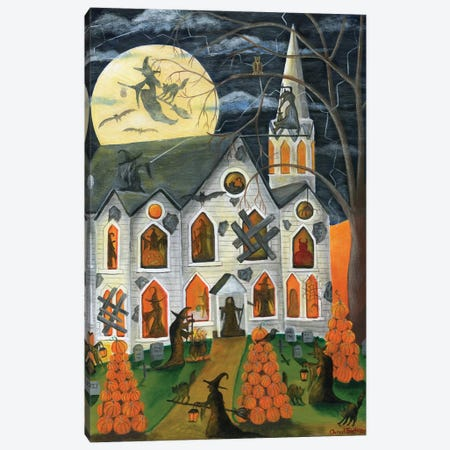 Halloween Witching Time Canvas Print #CBT117} by Cheryl Bartley Canvas Art