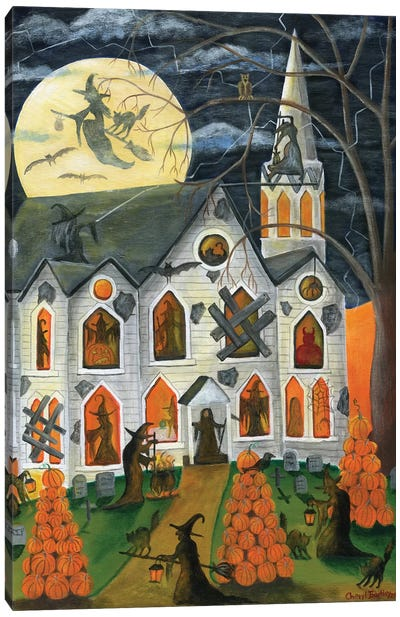 Halloween Witching Time Canvas Art Print