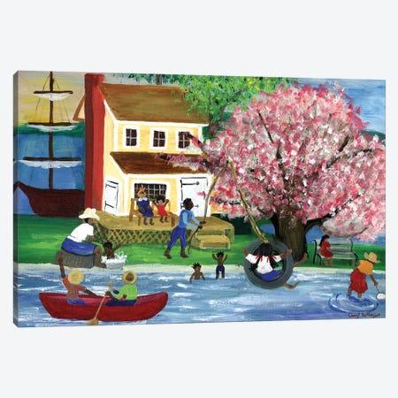 African American Summertime Homestead Canvas Print #CBT11} by Cheryl Bartley Art Print