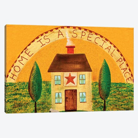Home Is A Special Place 3-Piece Canvas #CBT120} by Cheryl Bartley Canvas Wall Art