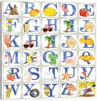 Alphabet Seaweed Blocks Canvas Art Print