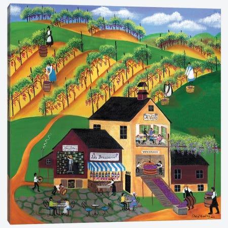 Les Brasserie Vineyard Canvas Print #CBT131} by Cheryl Bartley Canvas Art Print