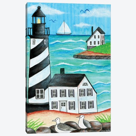 Lighthouse Beach Canvas Print #CBT132} by Cheryl Bartley Art Print