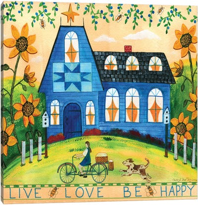 Live Love Be Happy Canvas Art Print