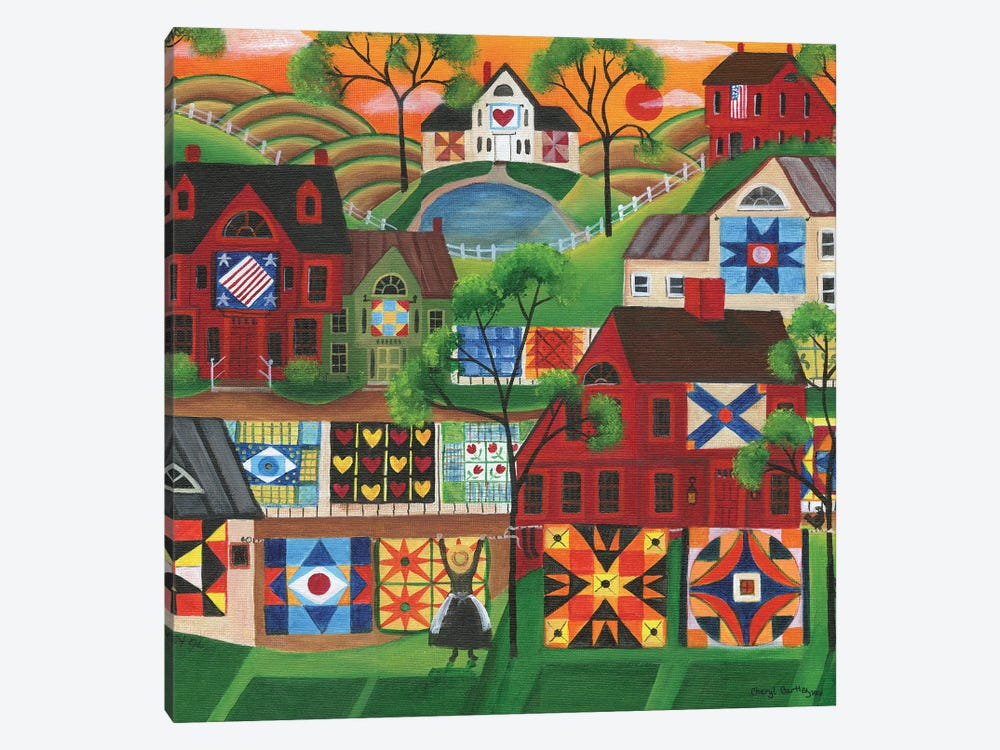 Mama's Colorful Quilts 1-piece Canvas Artwork