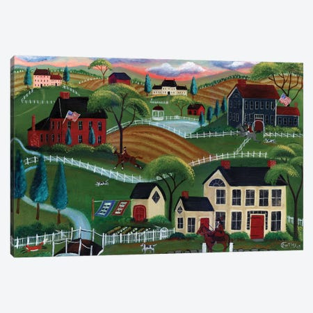 Old English Sunrise Fox Run Canvas Print #CBT145} by Cheryl Bartley Canvas Print