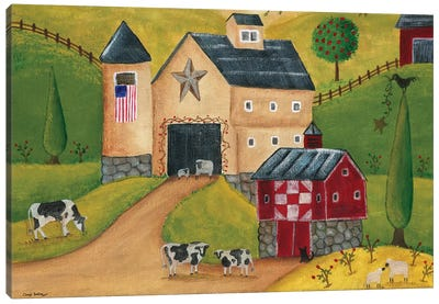 American Country Barns Canvas Art Print