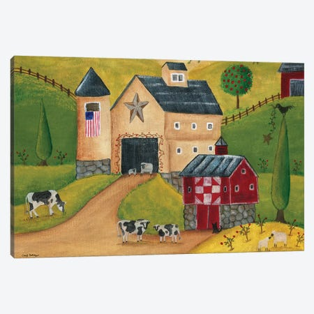 American Country Barns Canvas Print #CBT14} by Cheryl Bartley Canvas Wall Art