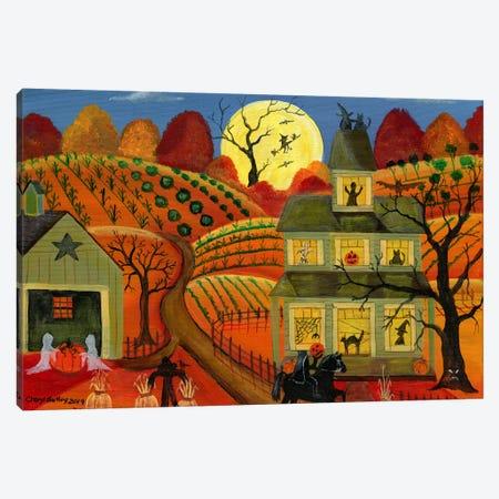 One Halloween Night Canvas Print #CBT154} by Cheryl Bartley Canvas Wall Art