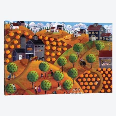Pick Your Own Pumpkin And Apple Farm Canvas Print #CBT158} by Cheryl Bartley Art Print