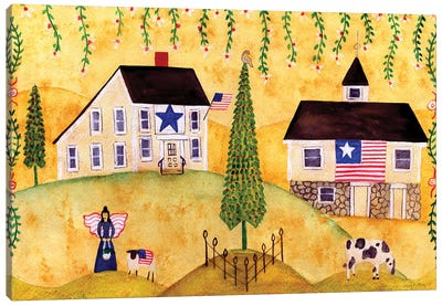 American Farmhouse Sampler Canvas Art Print