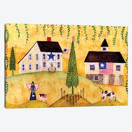 American Farmhouse Sampler Canvas Print #CBT15} by Cheryl Bartley Canvas Art