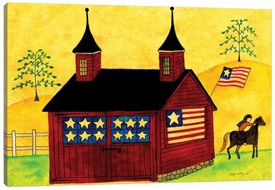 American Folk Art Barn Canvas Art Print