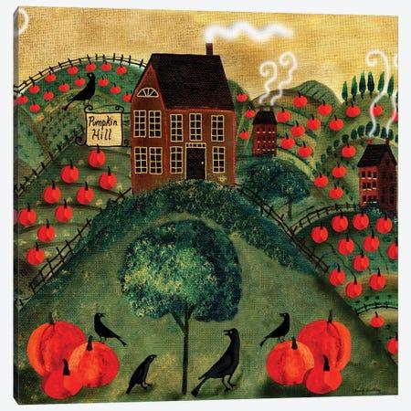 Pumpkin Crow Farm Canvas Print #CBT180} by Cheryl Bartley Canvas Art