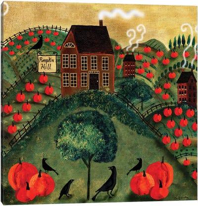 Pumpkin Crow Farm Canvas Art Print
