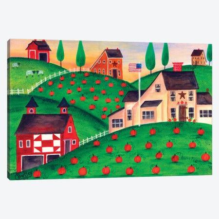 Pumpkin Patch Canvas Print #CBT183} by Cheryl Bartley Canvas Art