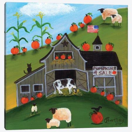 Pumpkins 4 Sale Cheryl Bartley Canvas Print #CBT186} by Cheryl Bartley Canvas Print