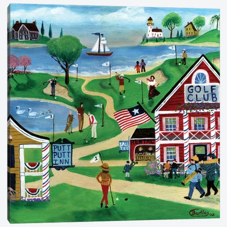 Putt Putt Inn Canvas Print #CBT187} by Cheryl Bartley Canvas Art Print