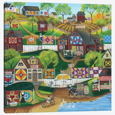Quilt Sewing Sanctuary Canvas Print #CBT188} by Cheryl Bartley Canvas Artwork