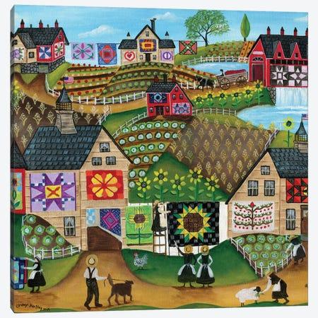Quilters Sunflower Farmland Canvas Print #CBT190} by Cheryl Bartley Canvas Print