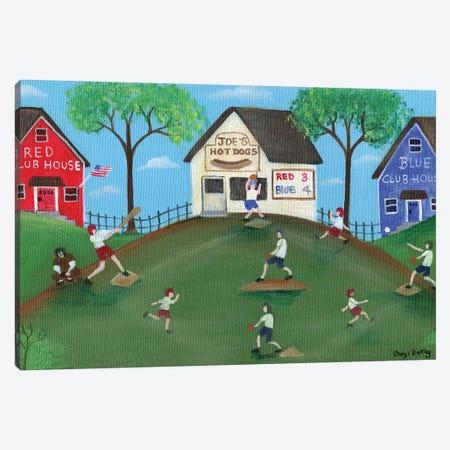 Red Blue Baseball Game Canvas Print #CBT197} by Cheryl Bartley Canvas Artwork