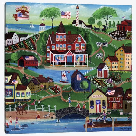 Red Farms Inn Canvas Print #CBT198} by Cheryl Bartley Art Print