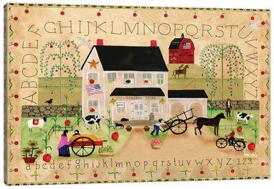 American General Store Sampler Canvas Art Print