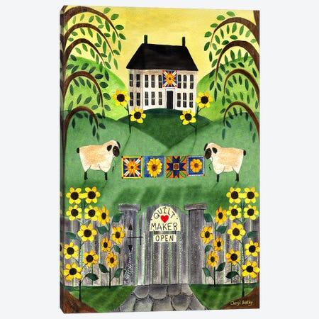 2 Sheep Quilt House Canvas Print #CBT1} by Cheryl Bartley Canvas Wall Art
