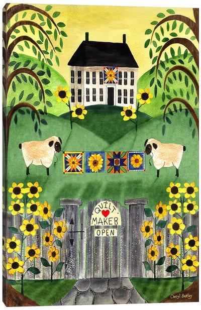 2 Sheep Quilt House Canvas Art Print