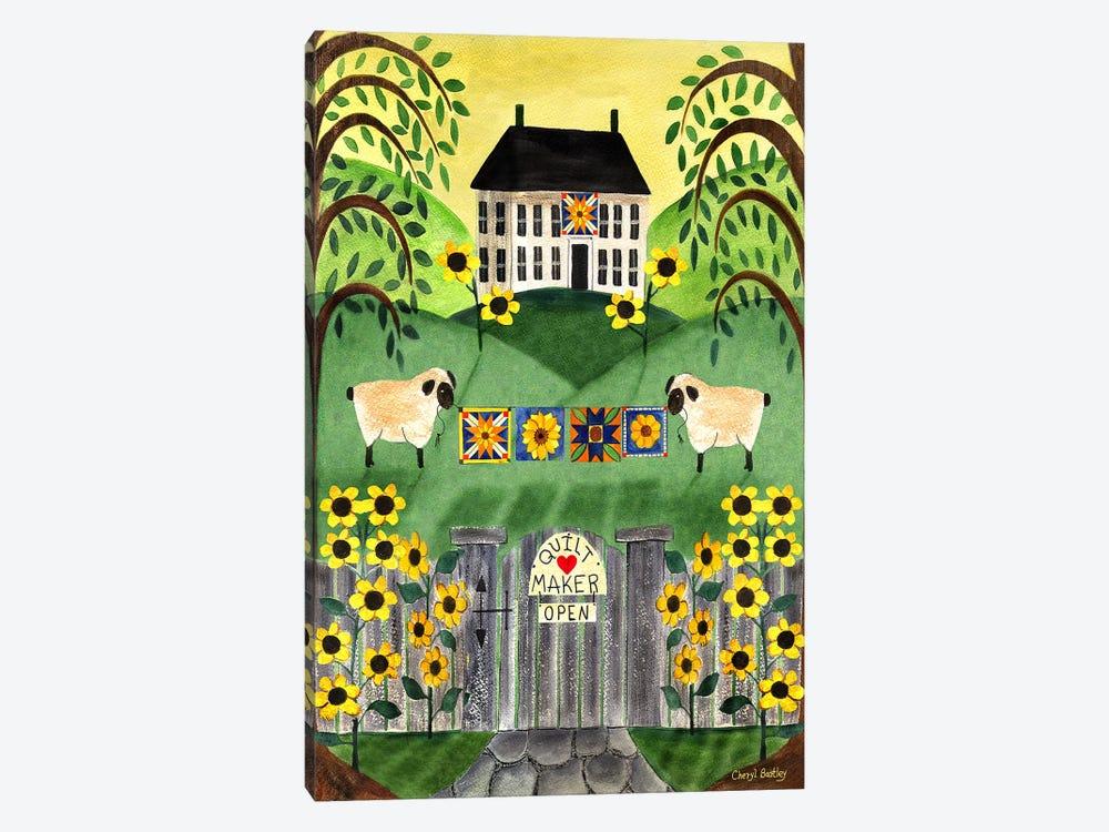 2 Sheep Quilt House by Cheryl Bartley 1-piece Art Print