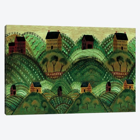 Rolling Country Hills Canvas Print #CBT201} by Cheryl Bartley Art Print