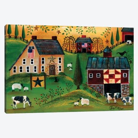 Salt Box Dairy Farm Cheryl Bartley Canvas Print #CBT203} by Cheryl Bartley Canvas Art Print