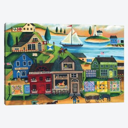 Seaside Harbor Canvas Print #CBT206} by Cheryl Bartley Canvas Artwork