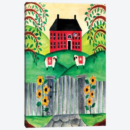 Sheep At Home Canvas Print #CBT208} by Cheryl Bartley Art Print