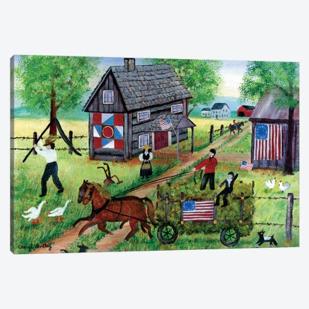 American Hay Ride Canvas Print #CBT20} by Cheryl Bartley Canvas Art