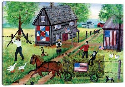 American Hay Ride Canvas Art Print