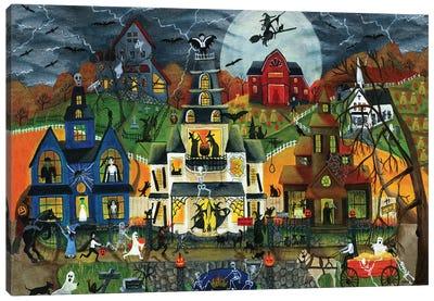 Spooky Street Cheryl Bartley Canvas Art Print