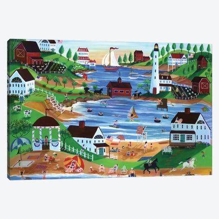Summertime Fun Oceanside Village Canvas Print #CBT222} by Cheryl Bartley Canvas Art Print