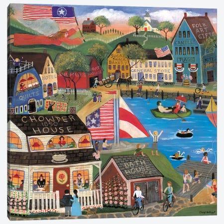 Summertime Spirit Village Cheryl Bartley Canvas Print #CBT223} by Cheryl Bartley Canvas Print