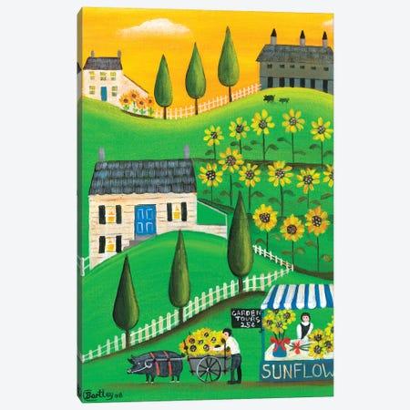 Sunflower Inspiration Farm Cheryl Bartley Canvas Print #CBT225} by Cheryl Bartley Canvas Art