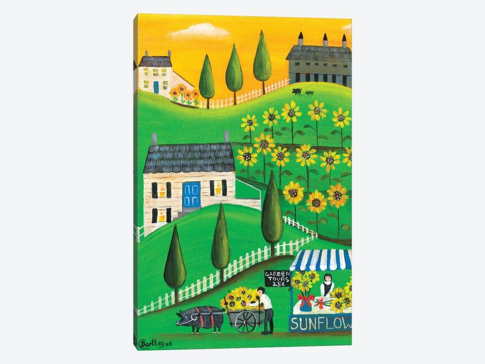 Sunflower Inspiration Farm Cheryl Bartley by Cheryl Bartley 1-piece Canvas Art Print