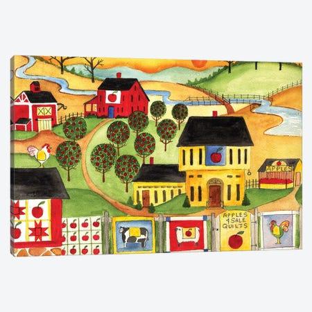 Sunrise Farm Apple Quilts 4 Sale Cheryl Bartley Canvas Print #CBT230} by Cheryl Bartley Canvas Art