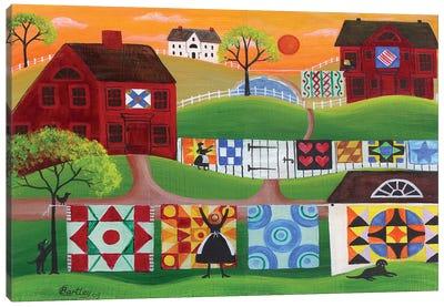 Sunrise Quilt Village Canvas Art Print