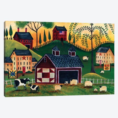 Sunrise Red Quilt Barn Cheryl Bartley Canvas Print #CBT234} by Cheryl Bartley Canvas Print