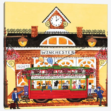 Winchester Train Station Canvas Print #CBT250} by Cheryl Bartley Canvas Wall Art