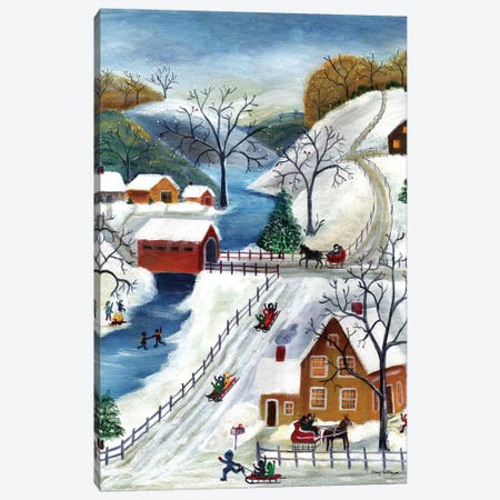 Winter Wonderland Home for the Holidays Canvas Print #CBT253} by Cheryl Bartley Canvas Art