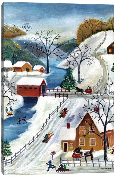 Winter Wonderland Home for the Holidays Canvas Art Print