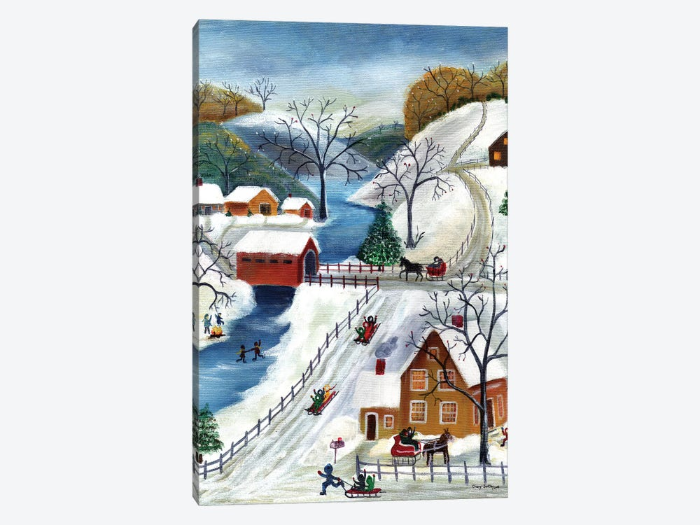Winter Wonderland Home for the Holidays by Cheryl Bartley 1-piece Canvas Wall Art
