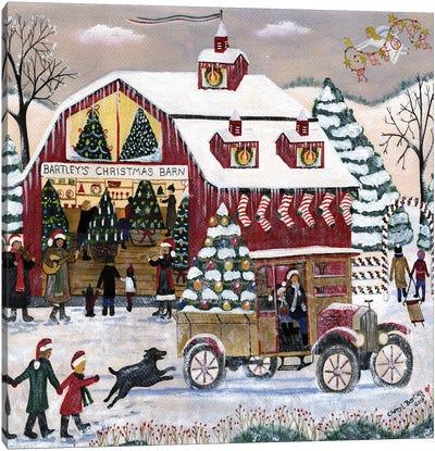 Bartleys Christmas Barn Canvas Art Print